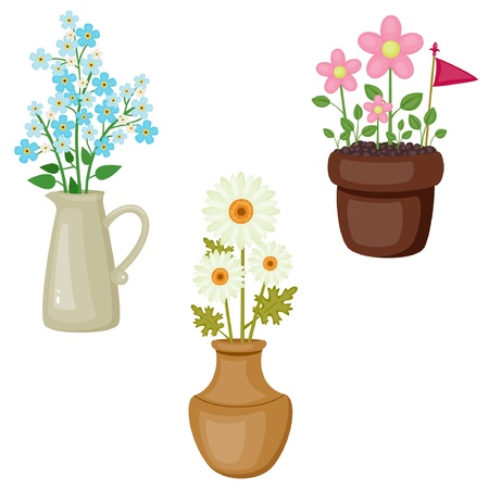 Bright colorful flowers icons Stock Vector - 18226790