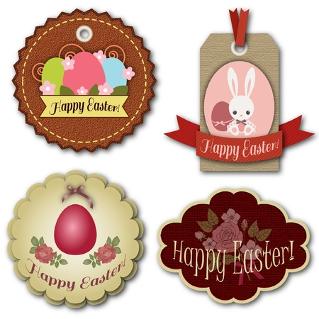 Easter tags design Vector