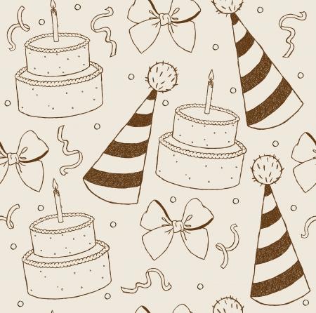 Illustration birthday seamless wallpaper