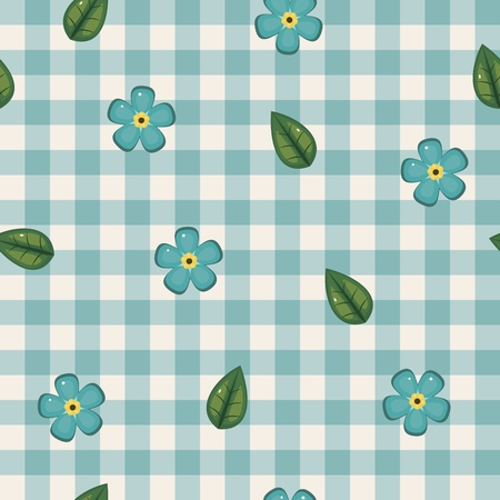 checked: Forget-me-not seamless checkered wallpaper