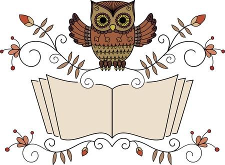 Reading owl Vector