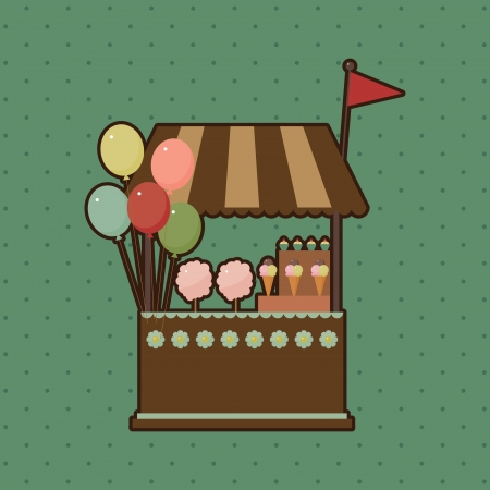 Candy shop card Vector
