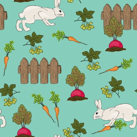 Seamless garden vector wallpaper