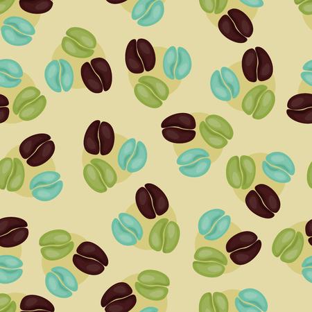 coffee beans: Seamless coffee wallpaper design
