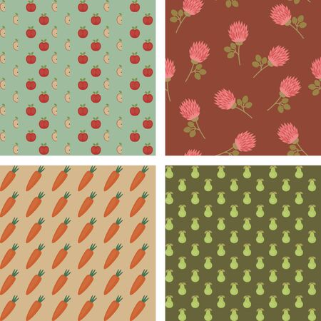 Graphic floral seamless backgrounds design
