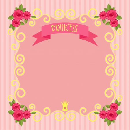 Pink beautiful princess background