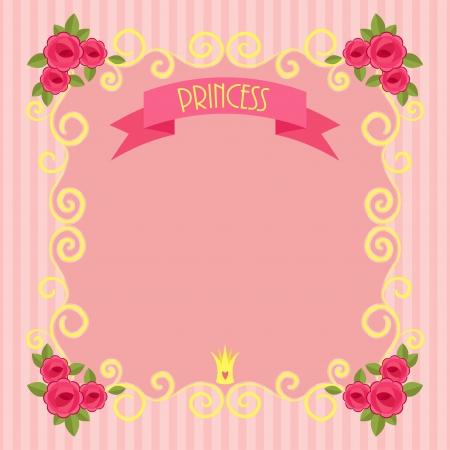 Pink beautiful princess background