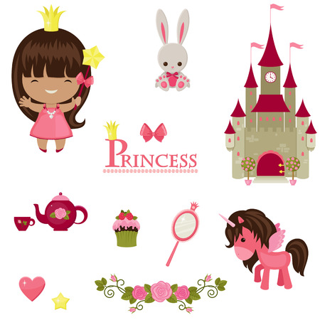 infant: illustration of princess design elements.