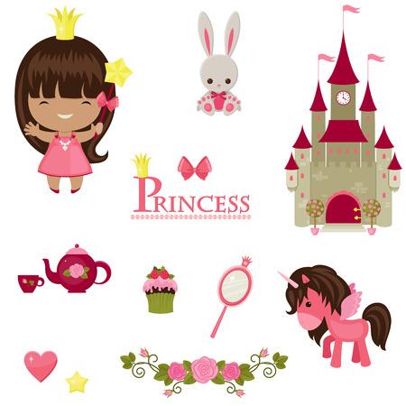illustration of princess design elements.