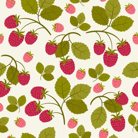 Raspberry seamless wallpaper Иллюстрация