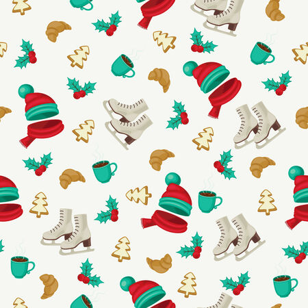 ice tea: Seamless winter holidays wallpaper