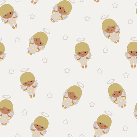 holiday background: Angels seamless. Holiday background. Illustration