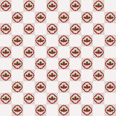 holly berry: Seamless holly berry pattern