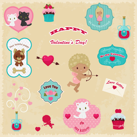 Beautiful collection of Valentines Day vector icons Vector