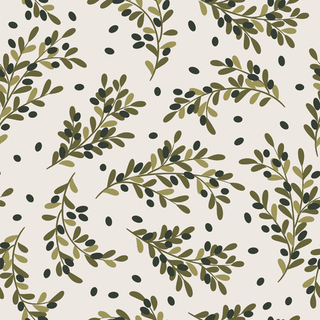 wallpaper  eps 10: Olive branches seamless pattern