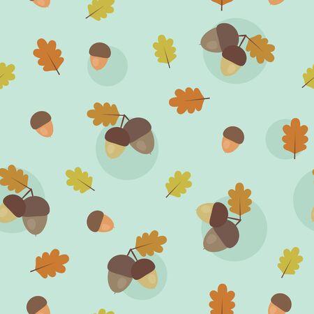 acorn: Acorn seamless pattern
