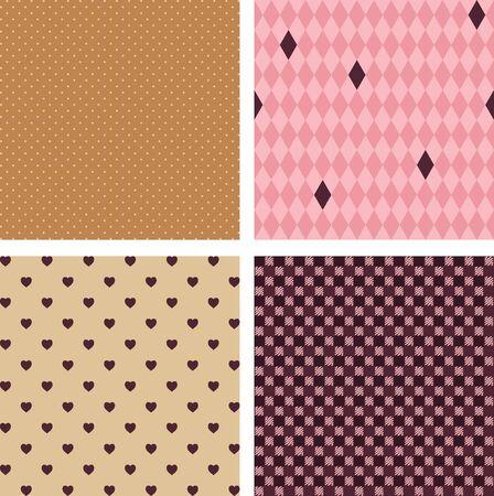 geometrical: Four seamless  geometrical patterns