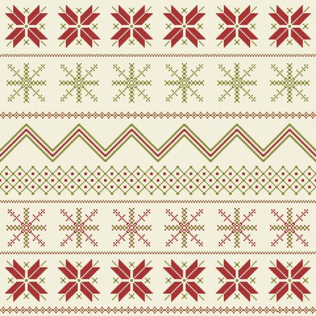 冬なフェアアイル パターン