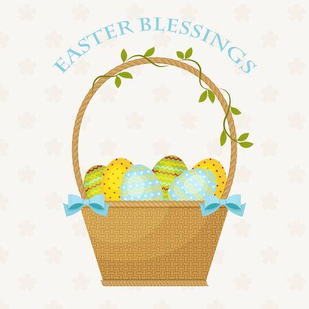 blessings: Easter Blessings greeting card.