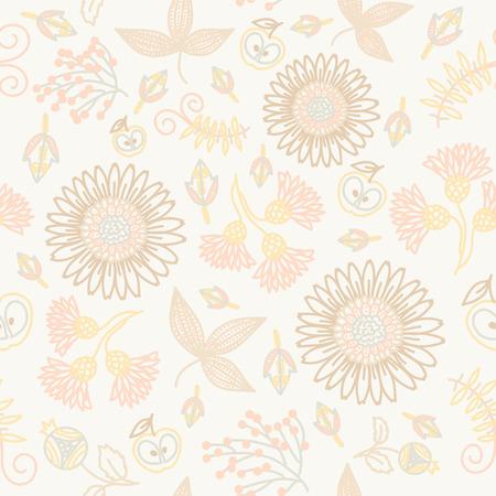 Pale floral seamless pattern. wallpaper