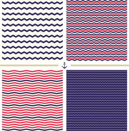 chevron patterns: Four seamless chevron patterns. Great for surface design, wrapping paper, fabric printing
