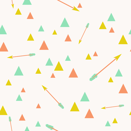Abstract triangle seamless pattern with tribal arrows