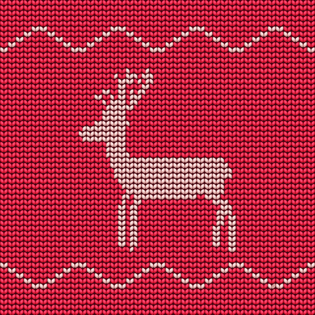 texturized: Abstract Christmas background with raindeer. Vector seamless pattern