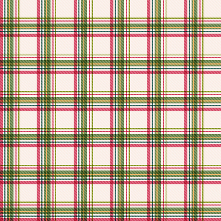 Abstract geometrical Christmas background. Plaid seamless pattern.