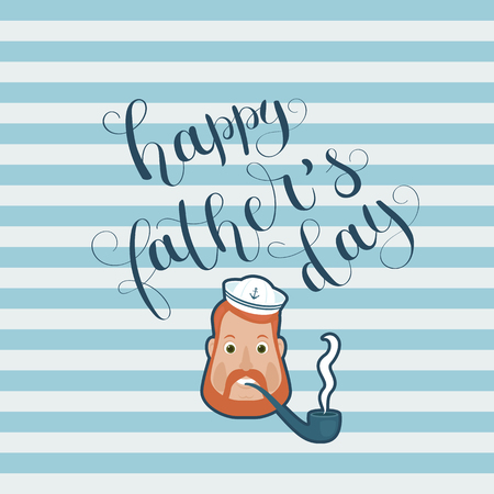 Happy Fathers Day hand letteringcalligraphy. Happy fatherdad saiolr. Vector art.