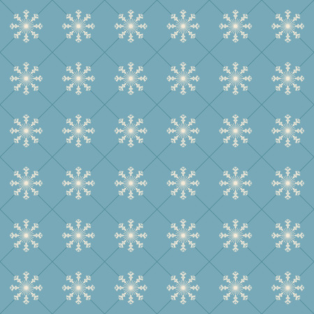Snowflakes on a light blue background. Vector seamless pattern