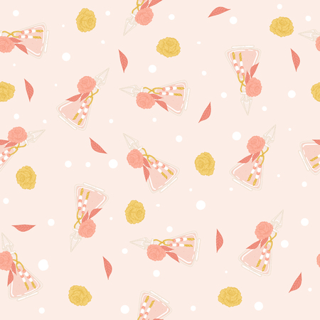 Perfume vector seamless pattern.