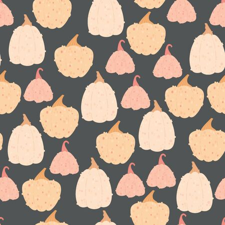 Colorful pumpkins seamless pattern Ilustrace