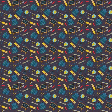 Back to school seamless pattern Stok Fotoğraf - 129482104