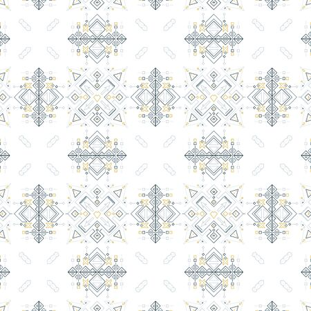 Tribal geometrical seamless pattern