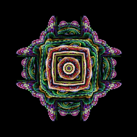 yantra: Abstract design fractal yantra in the Oriental style