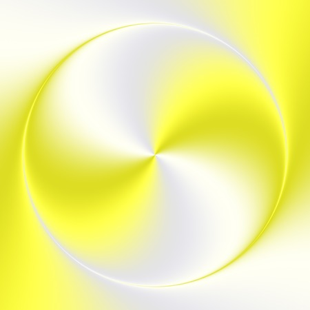 Beautiful disk with the smooth gradient swirl from gold yellow to silver gray color. photo