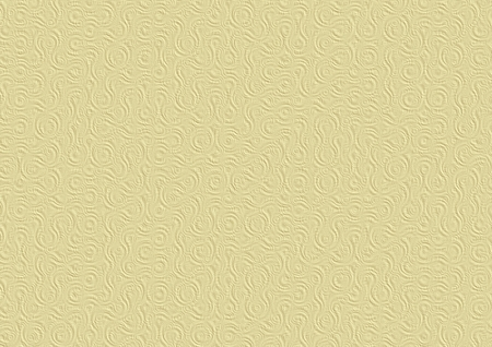 embossing: Naturally looking digitally generated 3D texture of the sandy beige paper with circular truchet embossing. Stock Photo