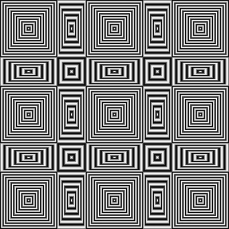 Digitally generated abstract optical illusion with effect of shimmering and volume.