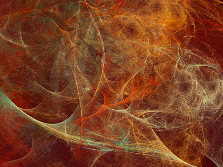 Orange green glittering organza abstract background. Digitally generated abstract background looks like the red orange green transparent fabrics with colorful sparkles. Banque d'images
