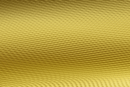 Golden wavy ribbed 3D material texture. Digitally generated 3D texture of the gold wavy ribbed artificial material.