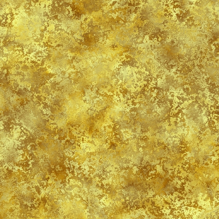 patina: Golden rusty grunge texture. Digitally generated yellow orange abstract background with rust stains. Stock Photo