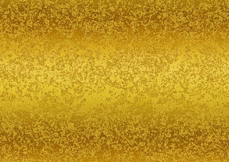 Golden patina vintage texture. Digitally generated beautiful gold glossy abstract background with grunge patina stains.
