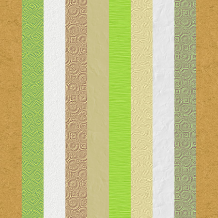 Vintage embossed paper textures stripes. Collage made of nine different digitally generated paper and cardboard textures.