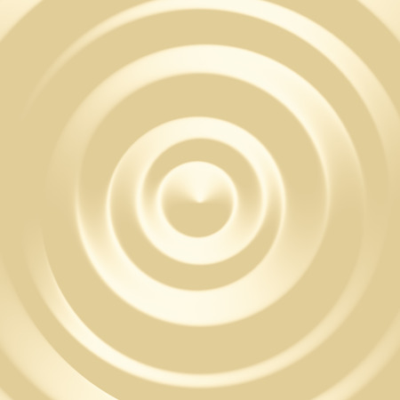 Vanilla ice cream top 3D texture. Digitally generated pastel creamy dessert abstract background with concentric 3D rings.