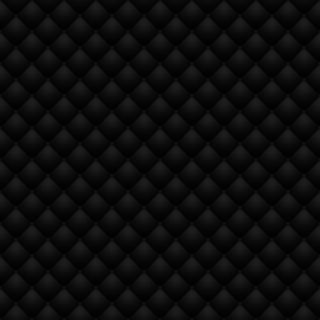 matte: Matte black quilted leather upholstery