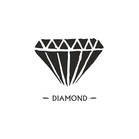 asscher cut: Diamond logo design.