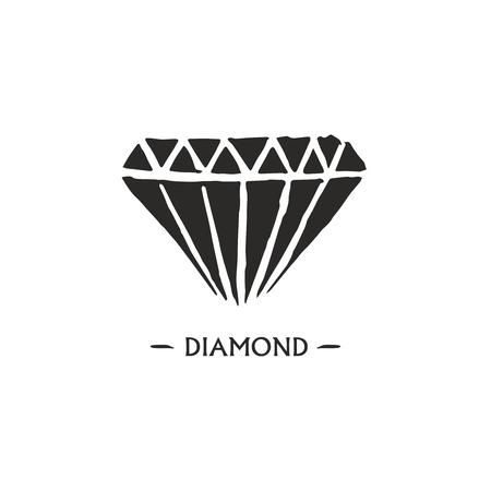 pear shaped: Diamond logo design.