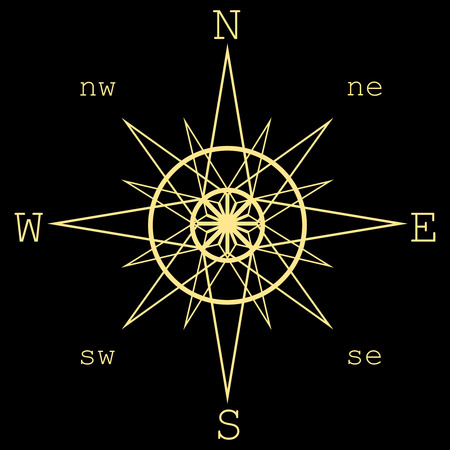 rosa de los vientos: Rosa de los vientos illustration.Compass del vector aislados. Vectores