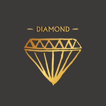 Diamond logo design.