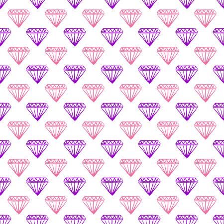 pear shaped: Pattern with mixed diamonds. Seamless vector background